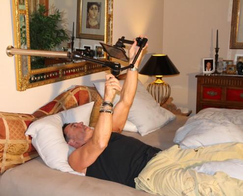 Tablet Halter für das Bett